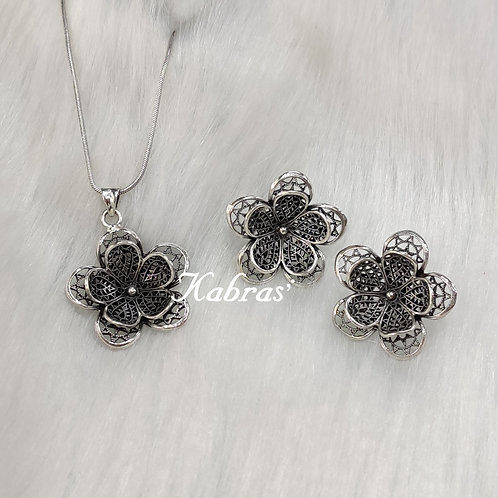 Daisy Quilled Pendant Set