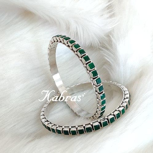 Green Choki Bangles