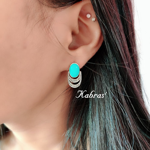 Turquoise Basket Studs