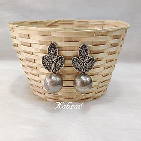 Antique Silver Earrings - Antique Silver Jewellery - Silver Jhumkas - Jhumkas - Navratri special - Silver jewellery - Sterling Silver Earrings