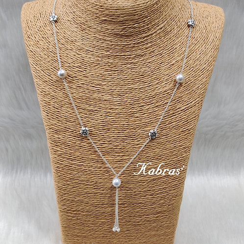 Floral Pearl Long Chain