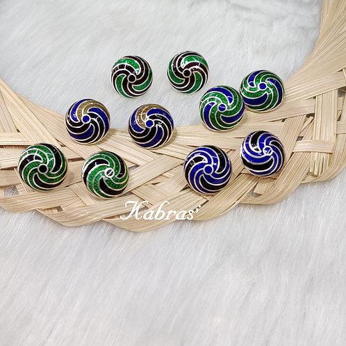 Spiral Minakari Studs