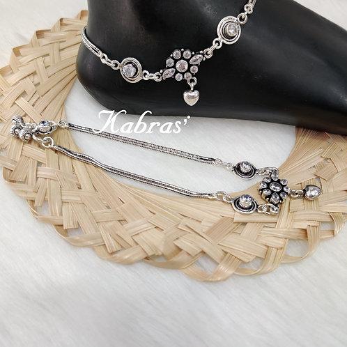 AD Cut Oval Chain Payal