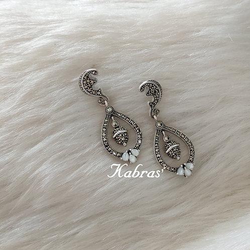 MOP Moon Drop Earrings