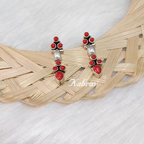 Coral Pearl Earrings