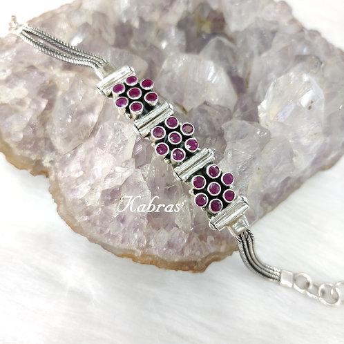 Ruby Trio Bracelet