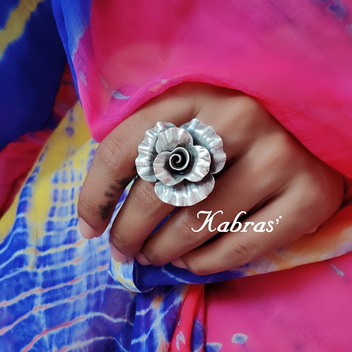 Curled Rose Ring