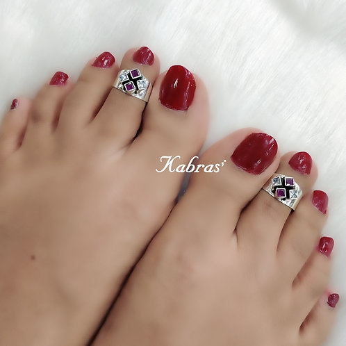Square Ruby White Toering