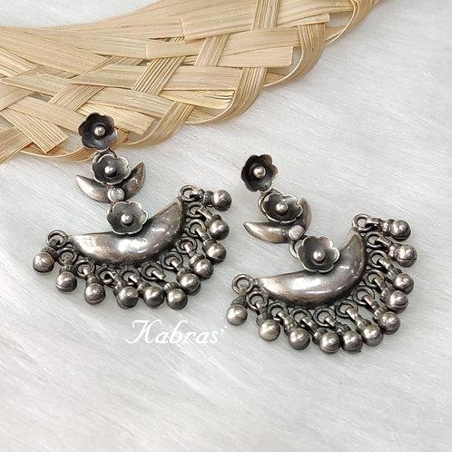 Floral Ghungroo Earrings