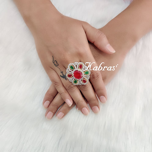 Multi Floral Ring