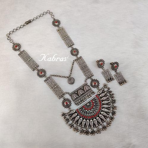 Coral Jaliwork Necklace