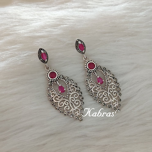 Pink Onex Pan Earrings