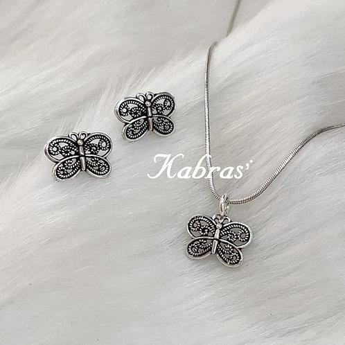 Butterfly Pendant Set