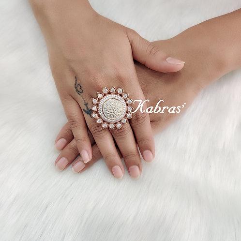 Floral Mina Ring