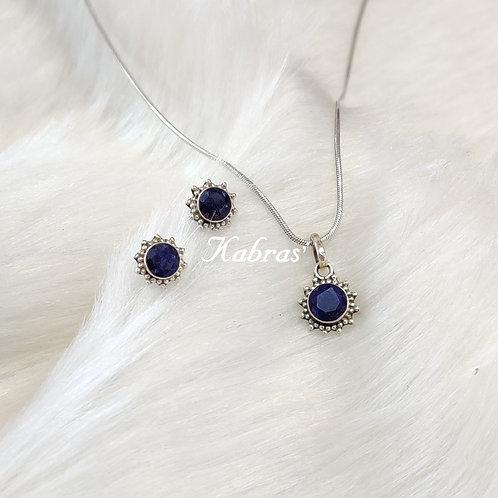 Star Dot Sapphire Pendant Set
