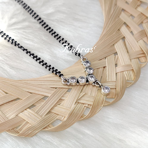 Cubic V-Style Mangalsutra