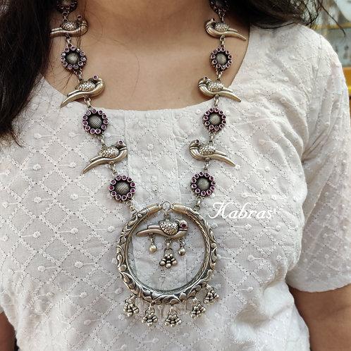 Nakshi Parrot Necklace