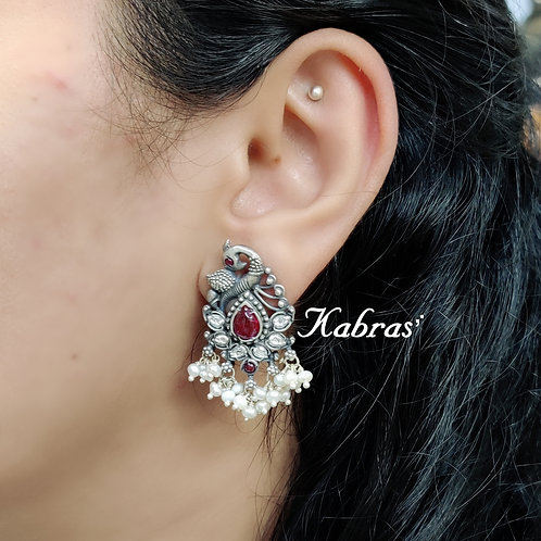 Mayur Moti Earrings