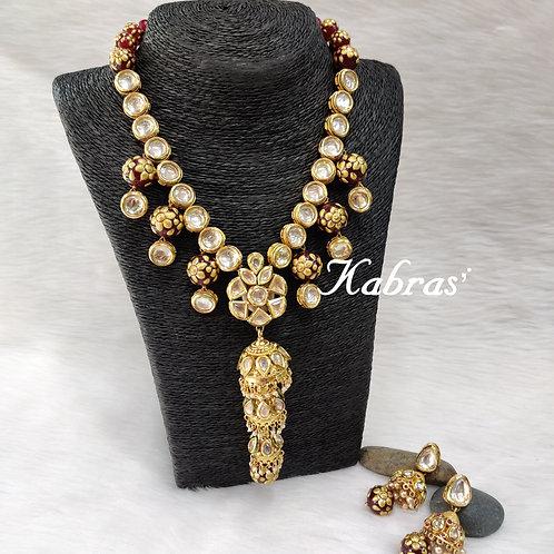 Jhumka Mina  Necklace