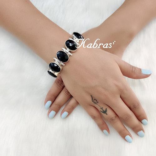 Cut Black Onyx Bracelet
