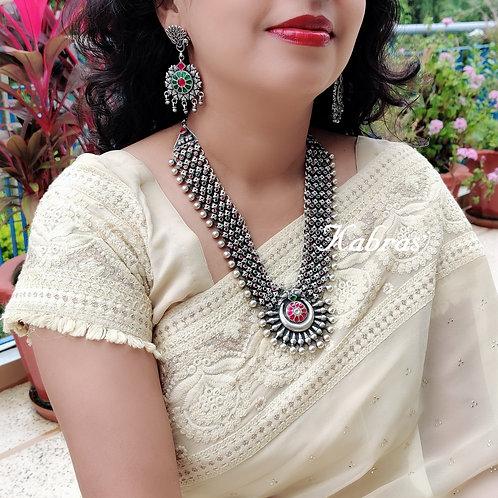 Kundan Phool-Chandra Necklace Set