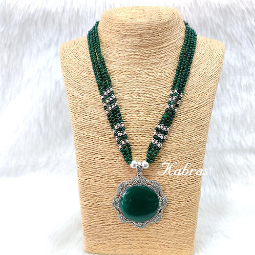 MC Green Onyx Necklace Set