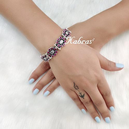 Oval Cut Stone Bracelet (3 Color Options)