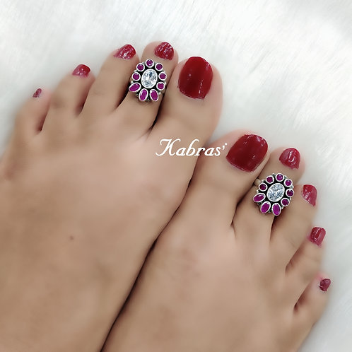 Floral Ruby White Toering