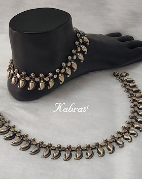 Flaunt your feet - Sterling Silver Payal - Antique Silver Jewellery - 925 Silver Jewellery - Pure Silver Jewellery - Anklets - Silver Toerings