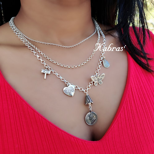 Frosty Charm Layered Necklace