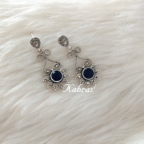 Sapphire Quilled Earrings