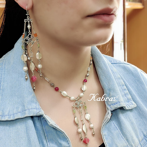 Dream-catcher Silver Necklace Set