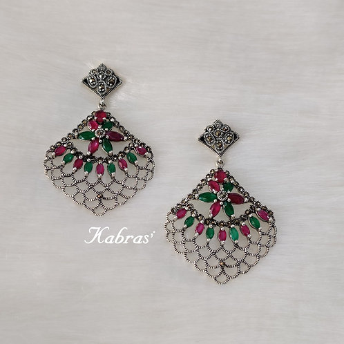 Multicolored Marcasite Earrings
