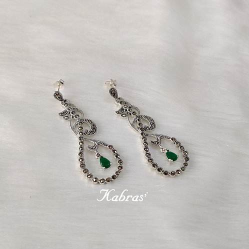 Quilled Green Onex Earrings