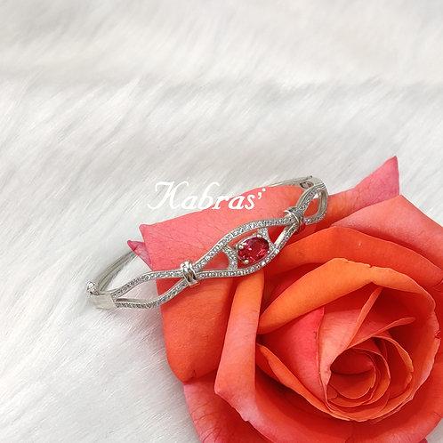 Ruby Drop Bracelet