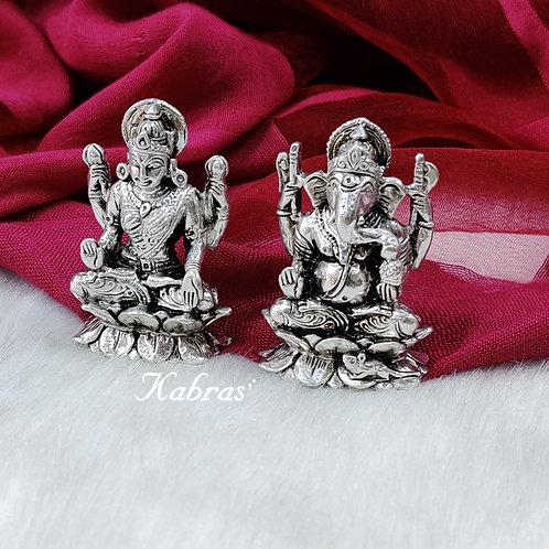 Laxmi Ganpati On Lotus