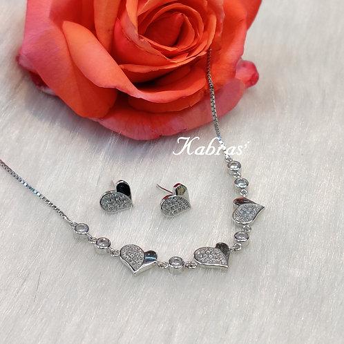 Hearts Necklace Set
