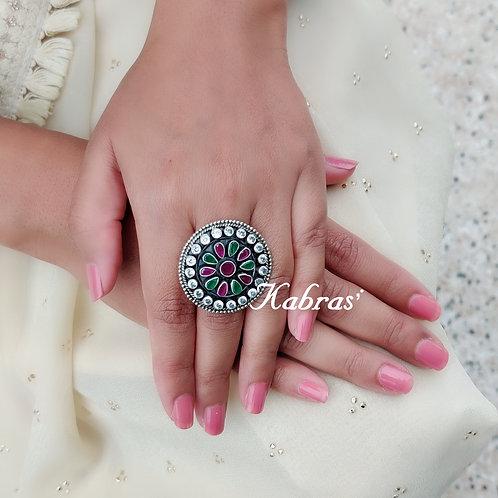 Multicolored Daisy Ring