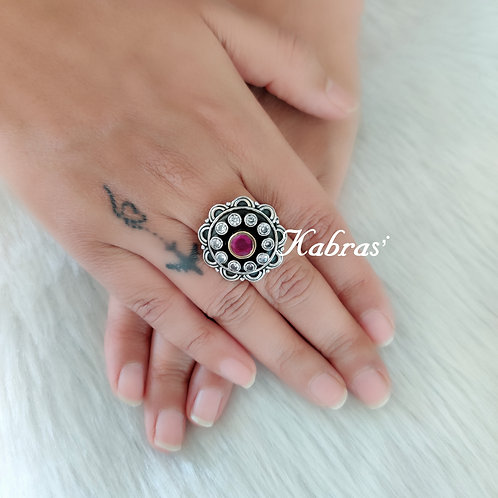 Floral Ruby Ring