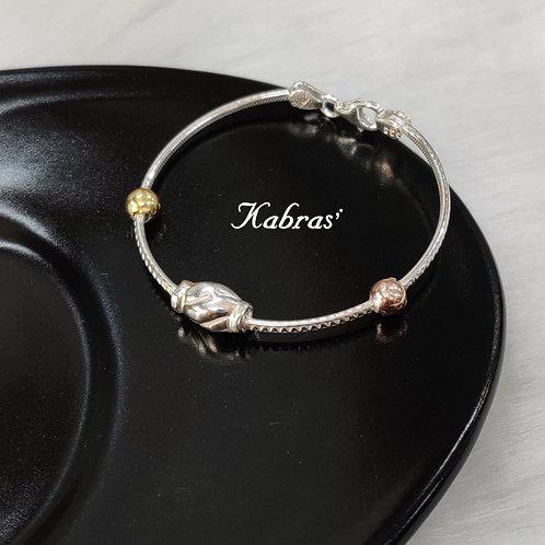Spiral 3Tone Bracelet