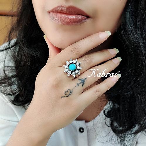 Rawa Turquoise Pearl Ring