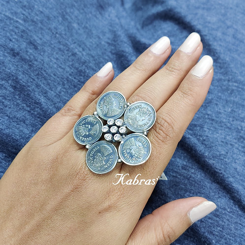 Cut AD Coin Ring