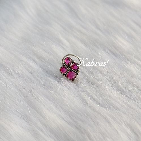 Ruby Drop Wired Nose Pin