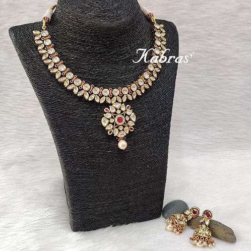 Floral Ruby Kundan Necklace