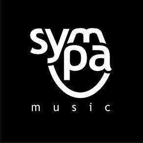 Logo Sympa Music Weiss auf Schwarz Bitma