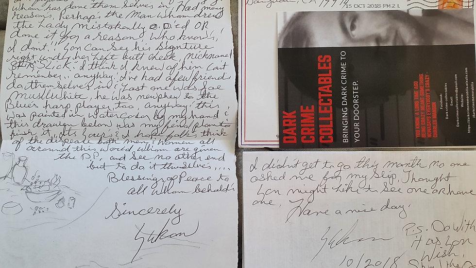 Danny Hillhouse San Quentin Death Row Letter