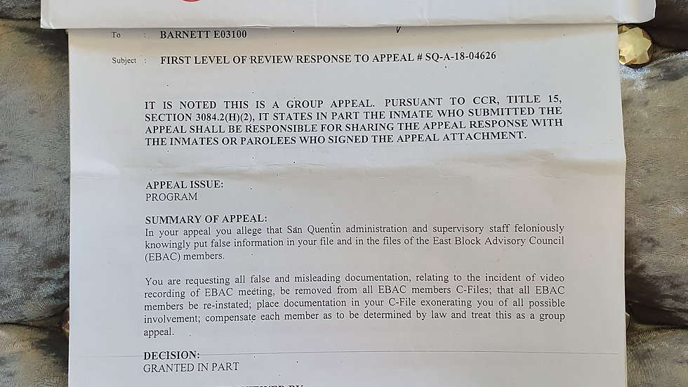 Lee Max Barnett 10 Page Appeal Documents