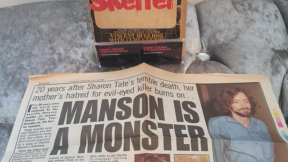 Manson Helter Skelter Book & Newspaper Article