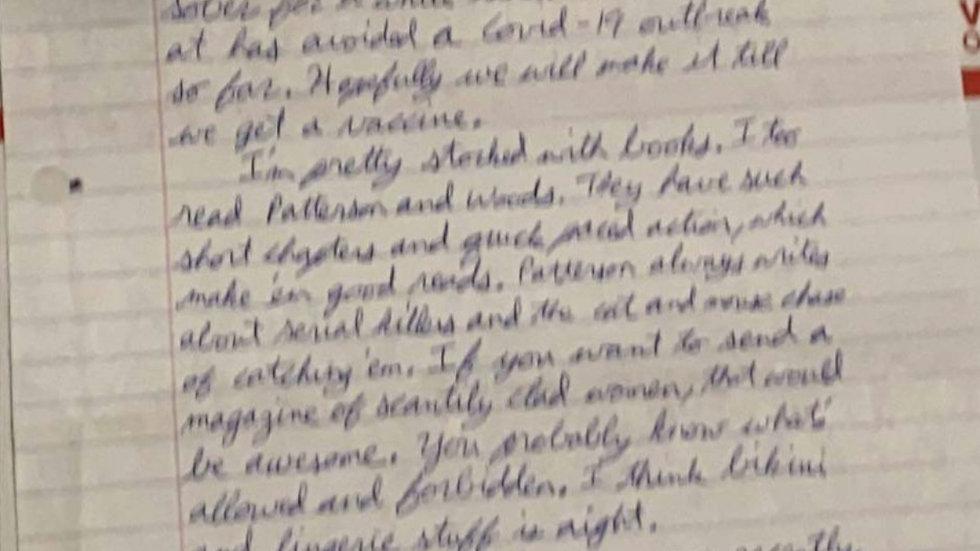 James Holmes Signed Letter & Envelope Set
