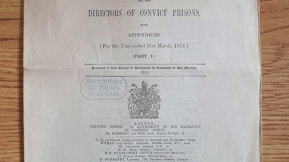 Original 1913 Prison Report